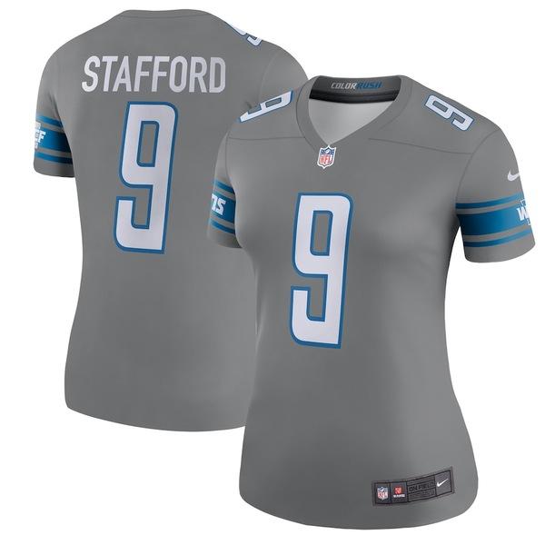 ナイキ レディース シャツ トップス Matthew Stafford Detroit Lions Nike Women's Color Rush Legend Jersey Steel