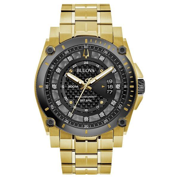 <title>ブロバ レディース アクセサリー 腕時計 Gold 全商品無料サイズ交換 Men's Precisionist Diamond-Accent Gold-Tone Stainless Steel Bracelet 限定タイムセール Watch 46.5mm</title>