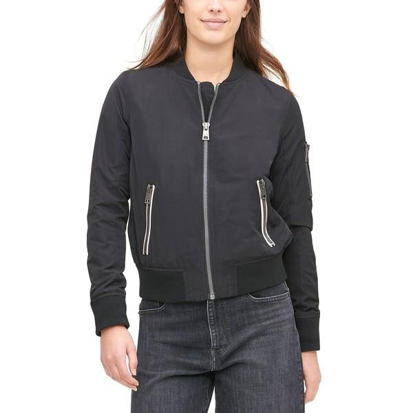 リーバイス レディース アウター ジャケット ブルゾン Black Bomber 専門店 全品送料無料 全商品無料サイズ交換 Zip-Detail Women's Jacket