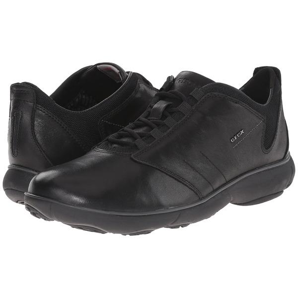 ジェオックス メンズ スニーカー シューズ U Nebula 11 Black Tumbled Leather