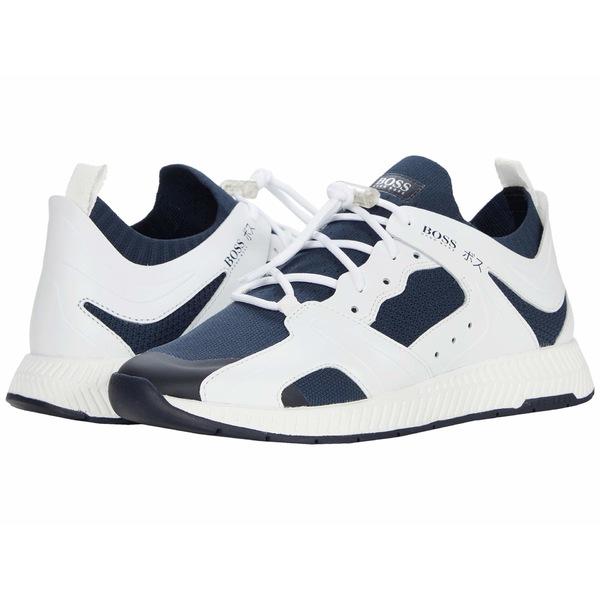 ヒューゴボス メンズ スニーカー シューズ Titanium Runn Sneakers Open Blue