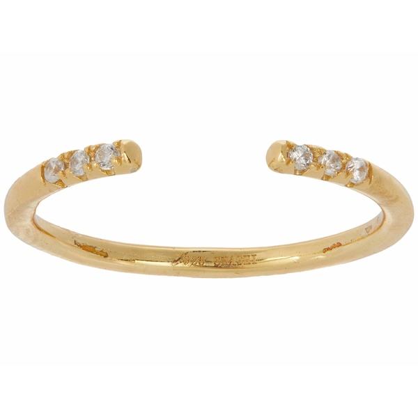 シャシ レディース リング アクセサリー Ava Diamond Adjustable Ring Gold