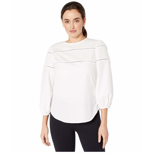 ラルフローレン レディース シャツ トップス Ladder-Trim Cotton Shirt White