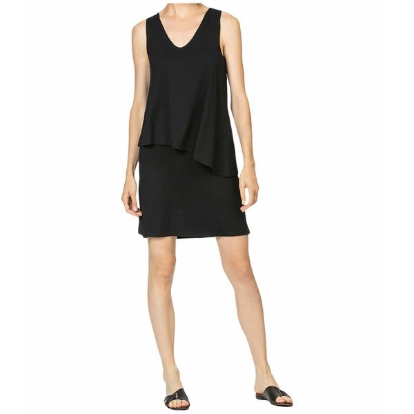 リラピー レディース ワンピース トップス Double Layer V-Neck Dress Black