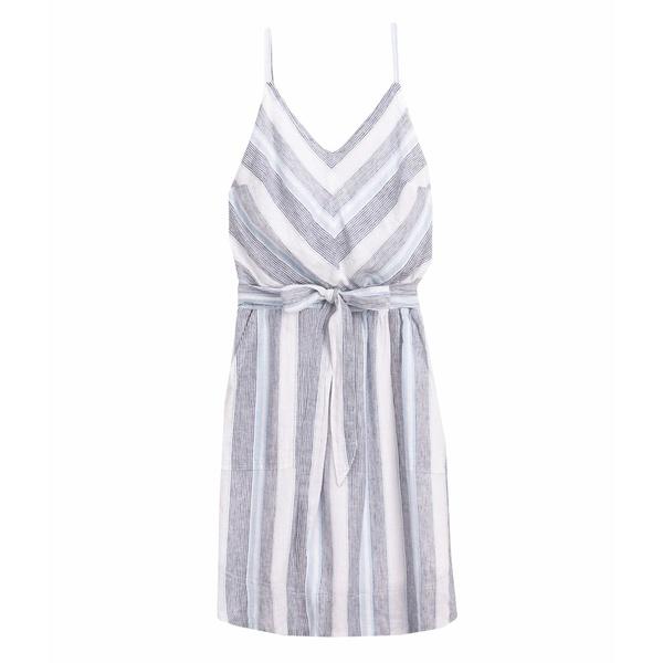 スプレンディット レディース ワンピース トップス Striped Tie Waist Dress Sea Stripe