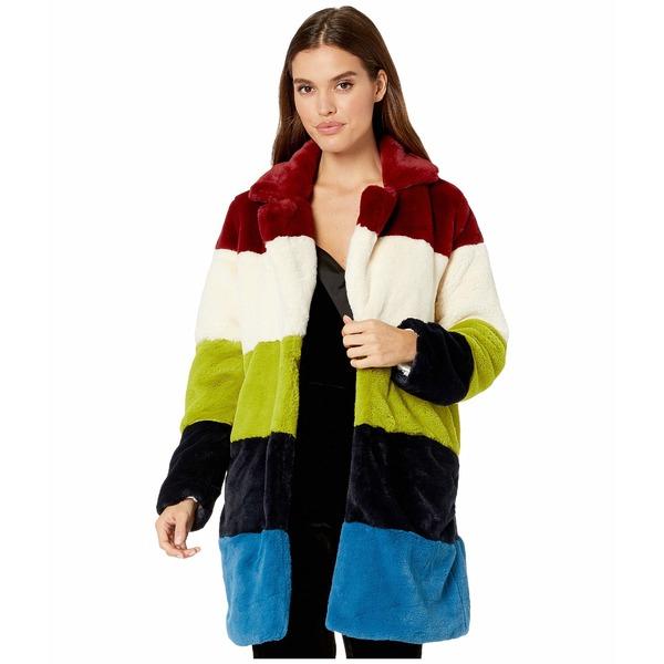 ブランクニューヨーク レディース コート アウター Faux Fur Color Block Coat in Super Nova Multicolor