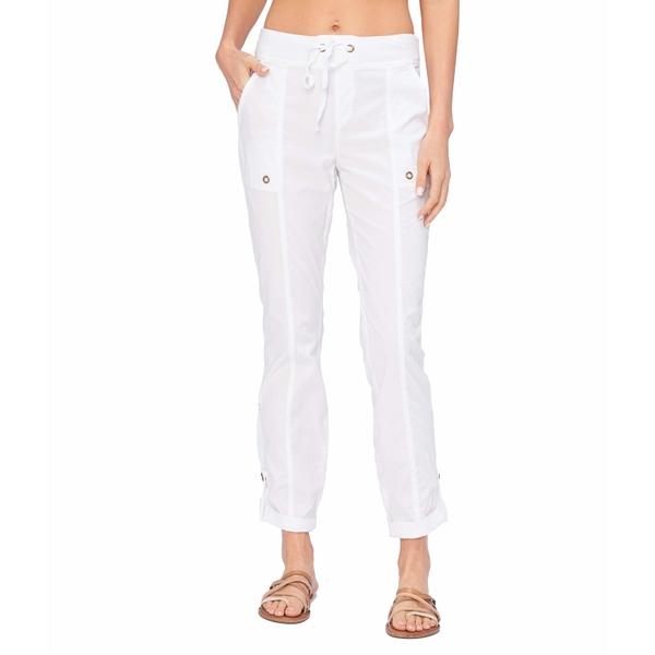 エックスシーブイアイ レディース カジュアルパンツ ボトムス Wearables Right On Crop Pants in Stretch Poplin White