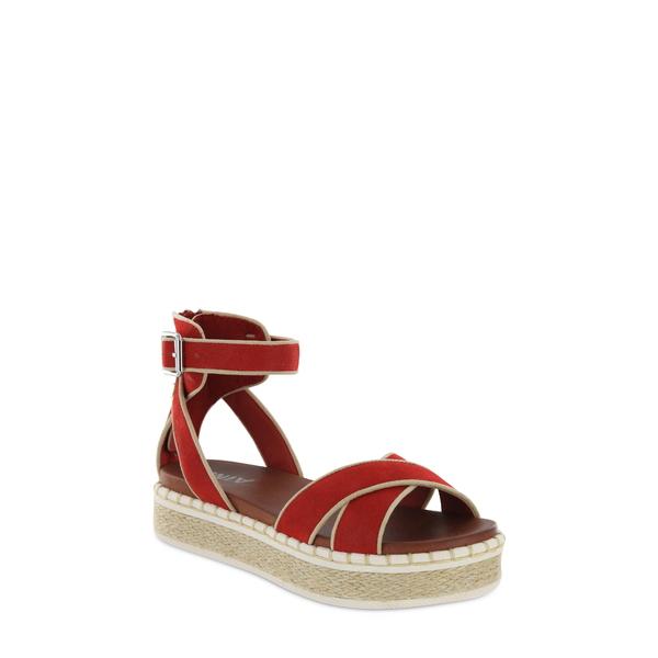 ミア レディース サンダル シューズ Vita Espadrille Platform Sandal Red Faux Leather