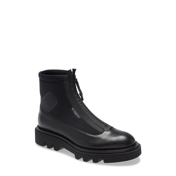 ジバンシー メンズ ブーツ&レインブーツ シューズ Zip Combat Boot Black