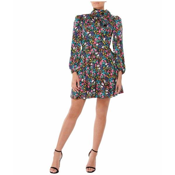 ミリー レディース ワンピース トップス Garden Floral Stretch Silk Dress Multi
