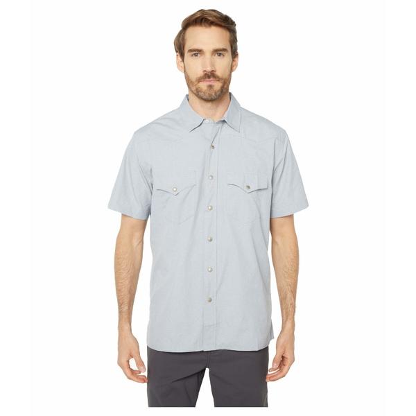フィルソン メンズ シャツ トップス Short Sleeve Snap Front Shirt Bluestone