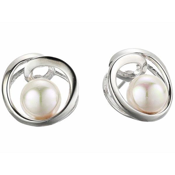 マジョリカ レディース ピアス&イヤリング アクセサリー 7 mm Infinity Round Pearl Earrings White
