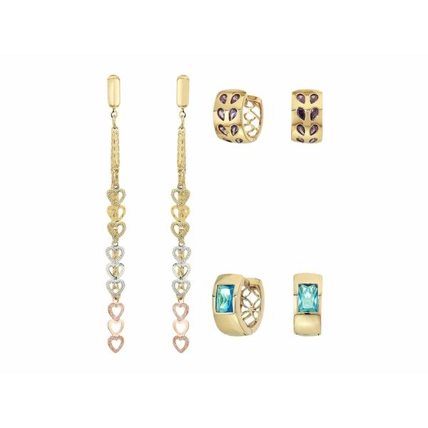バネッサモーネイ レディース ピアス&イヤリング アクセサリー The Posh Earrings Set Gold