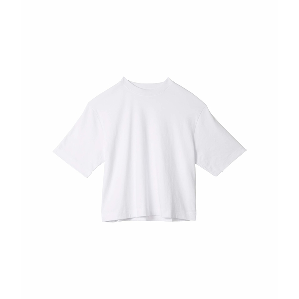 ヴィンス レディース シャツ トップス Wide Sleeve Crop T-Shirt Optic White