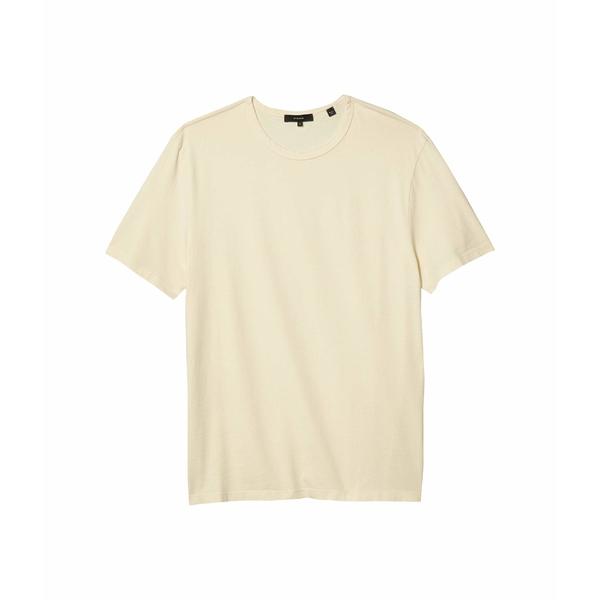 ヴィンス メンズ シャツ トップス Garment Dye Short Sleeve Crew Washed Yellow