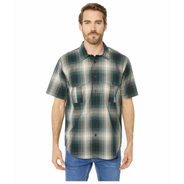 フィルソン メンズ シャツ トップス Short Sleeve Feather Cloth Shirt Green/Grey/Cream Plaid