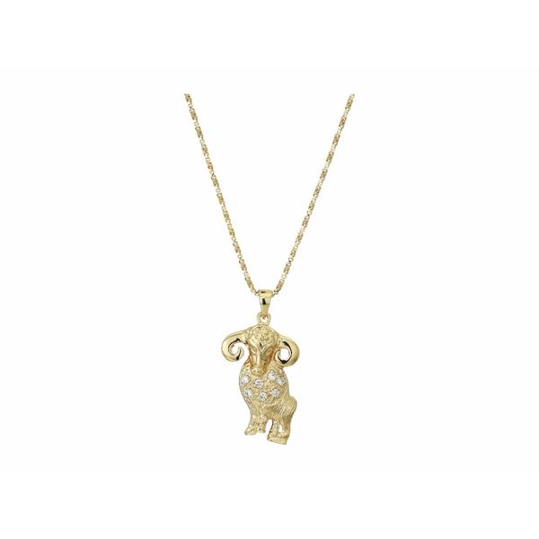 バネッサモーネイ レディース ネックレス・チョーカー・ペンダントトップ アクセサリー The Star Sign Necklaces Gold/Aries