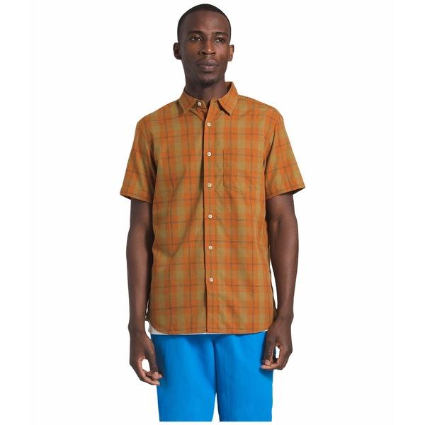 ノースフェイス メンズ シャツ トップス Short Sleeve Hammetts Shirt II Caramel Cafe Check Plaid