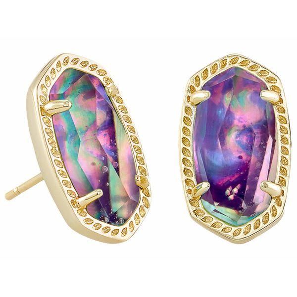 ケンドラスコット レディース ピアス&イヤリング アクセサリー Ellie Stud Earrings Gold Lilac Abalone