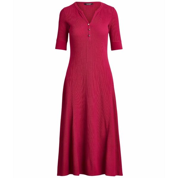 ラルフローレン レディース ワンピース トップス Waffle Knit Fit-and-Flare Dress Bright Fuchsia