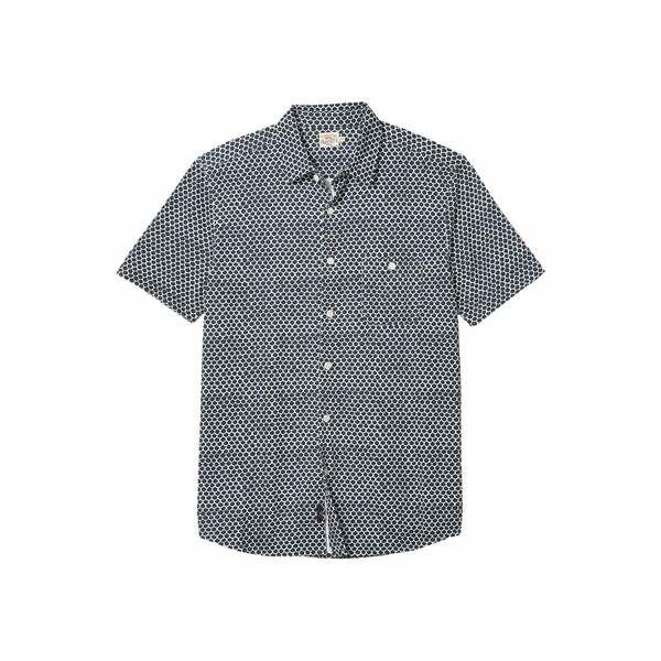 ファエティ メンズ シャツ トップス Short Sleeve Knit Coast Shirt Fish Scale Batik