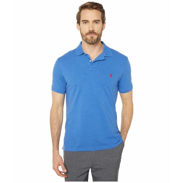 ラルフローレン メンズ シャツ トップス Custom Slim Fit Mesh Polo Blue
