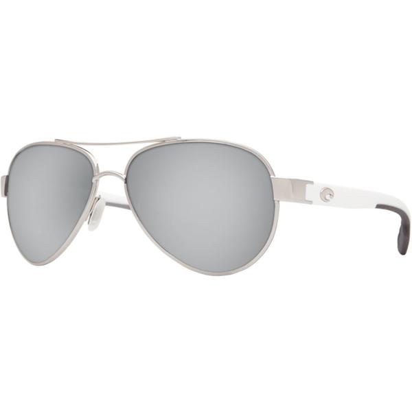 コスタ メンズ サングラス・アイウェア アクセサリー Loreto Polarized 580G Sunglasses - Men's Palladium/White Temples Frame/Gray Silver Mirror