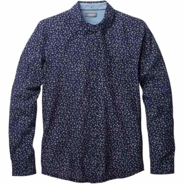 ドード アンドコー メンズ シャツ トップス Mattock Slim Fit Long-Sleeve Shirt - Men's Indigo Mini Floral Print