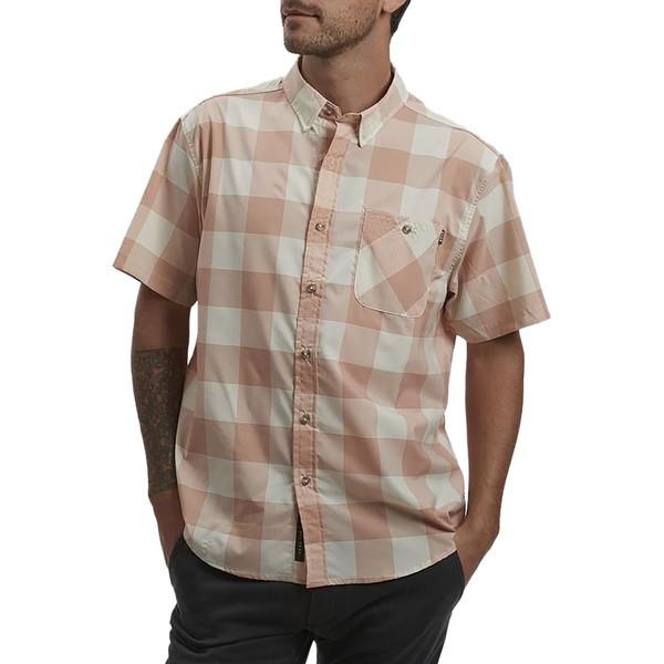 ハウラーブラザーズ メンズ シャツ トップス Airwave SS Shirt - Men's Garcia Gingham Coral Mist