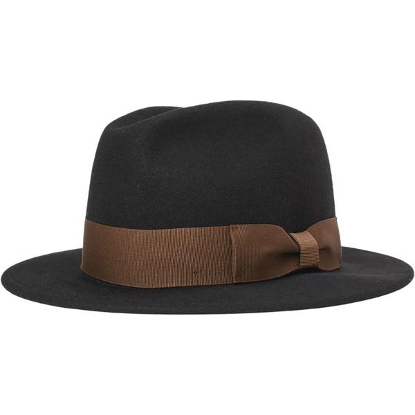 ブリクストン メンズ 帽子 アクセサリー Rollins Felt Fedora Black/Brown