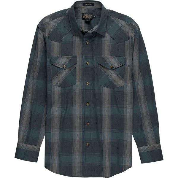 ペンドルトン メンズ シャツ トップス Frontier Shirt - Long-Sleeve - Men's Blue/Grey Dobby Plaid