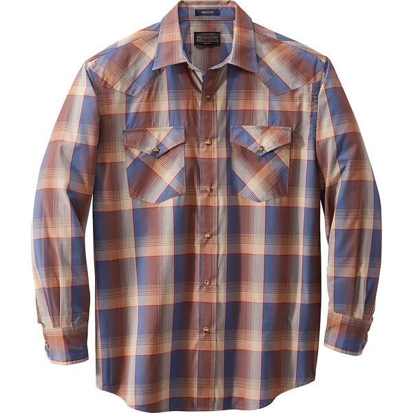 ペンドルトン メンズ シャツ トップス Frontier Shirt - Long-Sleeve - Men's Navy/Rust/Red Plaid