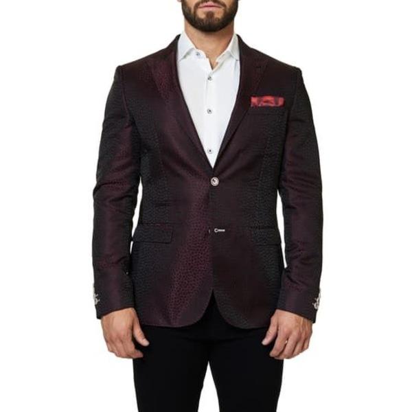 マセオ メンズ ジャケット&ブルゾン アウター Shaped Fit Blazer Elegance MEDIUM RED