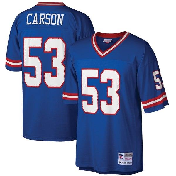 ミッチェル&ネス メンズ シャツ トップス Harry Carson New York Giants Mitchell & Ness Retired Player Legacy Replica Jersey Royal
