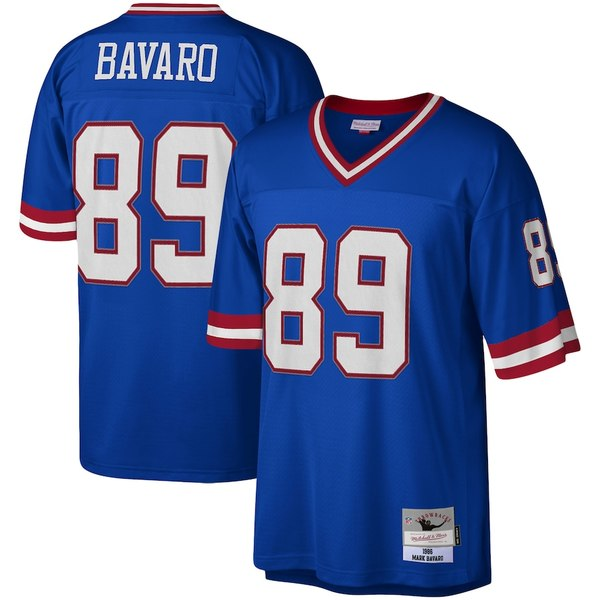ミッチェル&ネス メンズ シャツ トップス Mark Bavaro New York Giants Mitchell & Ness Legacy Replica Jersey Royal