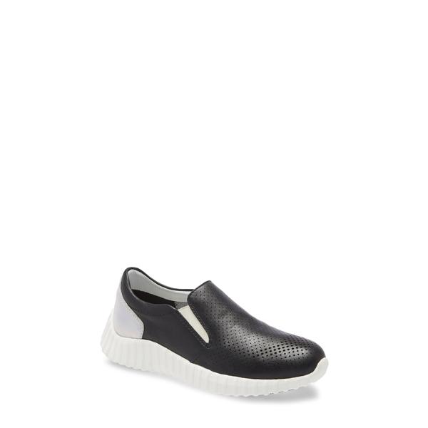 ジョンストンアンドマーフィー レディース スニーカー シューズ Kimmie Perforated Slip-On Sneaker Black Nappa Leather