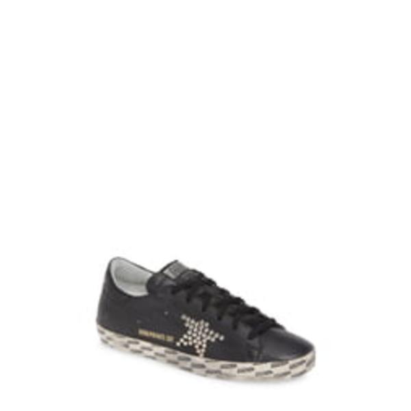 ゴールデングース レディース スニーカー シューズ Superstar Studded Sneaker Black Leather/ Studs