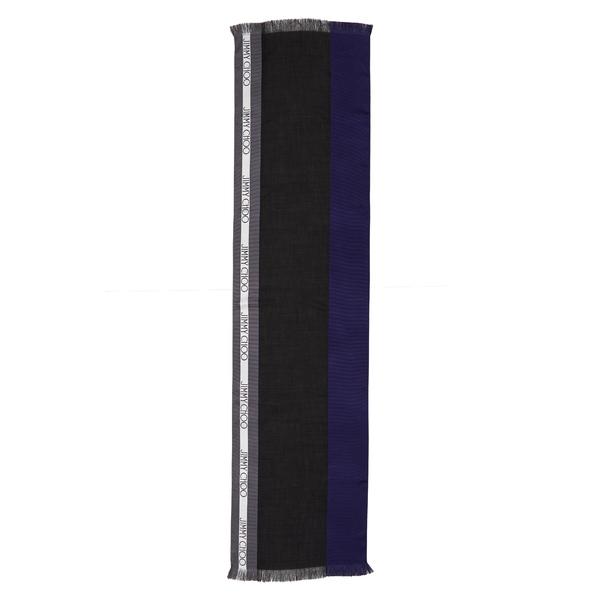 ジミーチュウ レディース マフラー・ストール・スカーフ アクセサリー Colorblock Logo Silk Blend Scarf Electric Blue