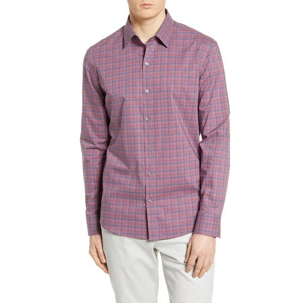ザッカリープレル メンズ シャツ トップス Regular Fit Plaid Button-Up Shirt Flamingo