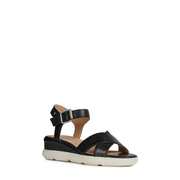 ジェオックス レディース サンダル シューズ Pisa Wedge Sandal Black Leather