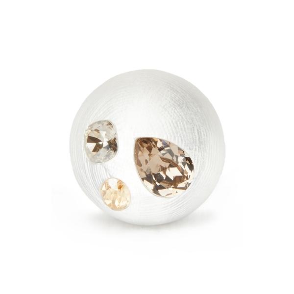 アレクシス ビッター レディース リング アクセサリー Future Antiquity Crystal Stud Bubble Ring Silver