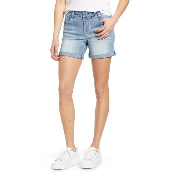 ウィットアンドウィズダム レディース カジュアルパンツ ボトムス Ab-Solution Roll Cuff Denim Shorts Lt Blue