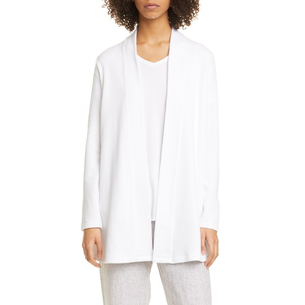 エイリーンフィッシャー レディース ジャケット&ブルゾン アウター Jacquard Organic Cotton Blend Jacket White