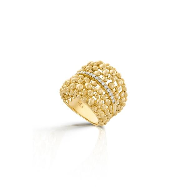 エイチ ユー エー ビー レディース リング アクセサリー Bubbles Diamond Ring Diamond