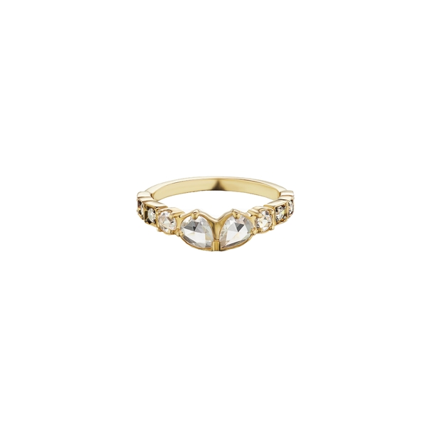 マニアマニア レディース リング アクセサリー Petit Sacred Band Ring Yellow Gold/ Diamond