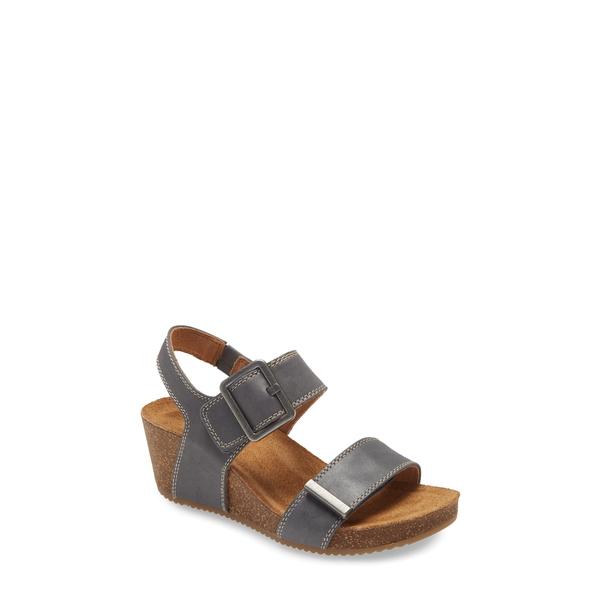 コンフォーティバ レディース サンダル シューズ Emberly Wedge Sandal Denim Leather