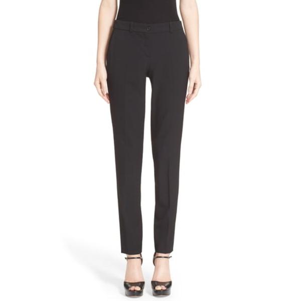 マイケルコース レディース カジュアルパンツ ボトムス Samantha Stretch Wool Straight Leg Pants Black
