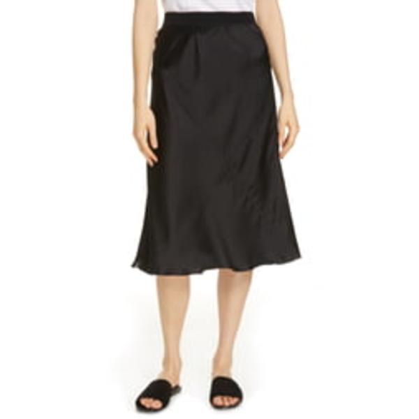 エーティーエム レディース スカート ボトムス Pull-On Silk Skirt Black