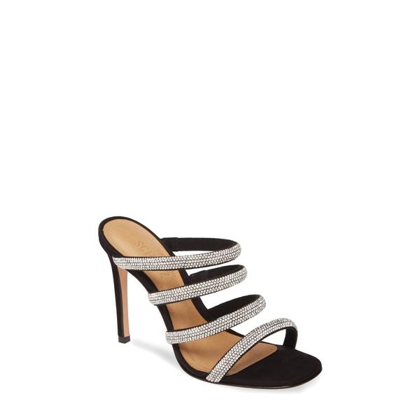 シュッツ レディース サンダル シューズ Sariah Strappy Crystal Slip-On Sandal Black-Cristal