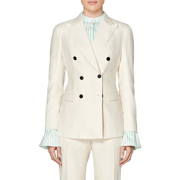 スイスタジオ レディース ジャケット&ブルゾン アウター Cameron Silk Suit Jacket Off White